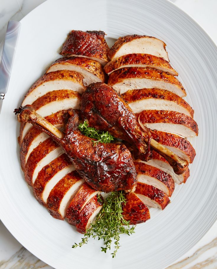 Bourbon and Brown Sugar Glazed Turkey Recipe | Bon Appetit