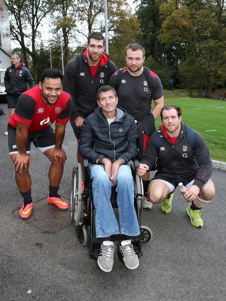 Joost van der Westhuizen meets England's Billy Vunipola, Graham Kitchener, Matt Mullan and Henry Thomas