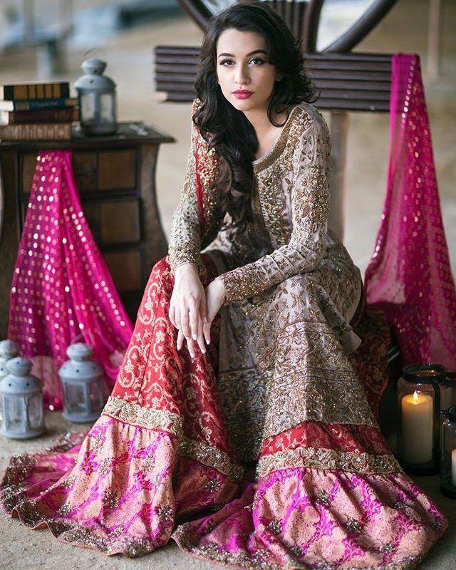 Pakistani bridal couture, sharara