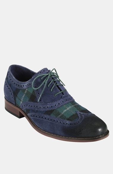 Free shipping and returns on Cole Haan 'Air Colton' Wingtip Oxford at Nordstrom.com. Perforated suede and plaid-patterned fabric style a smart wingtip cushioned with Nike Air®.