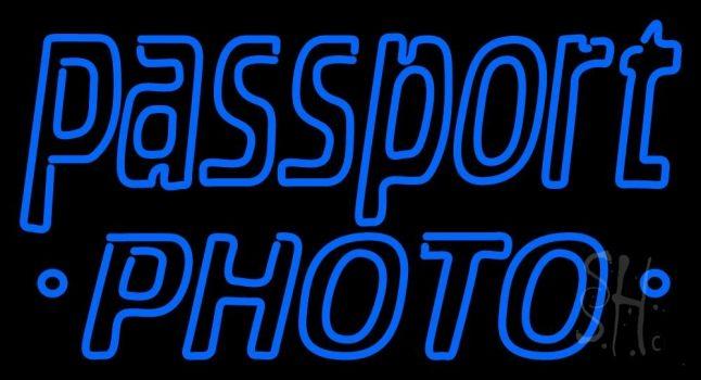 Blue Passport Neon Sign