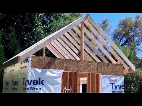 How To Build A Shed Part 4a Ridge Beam Amp Rafters Diy