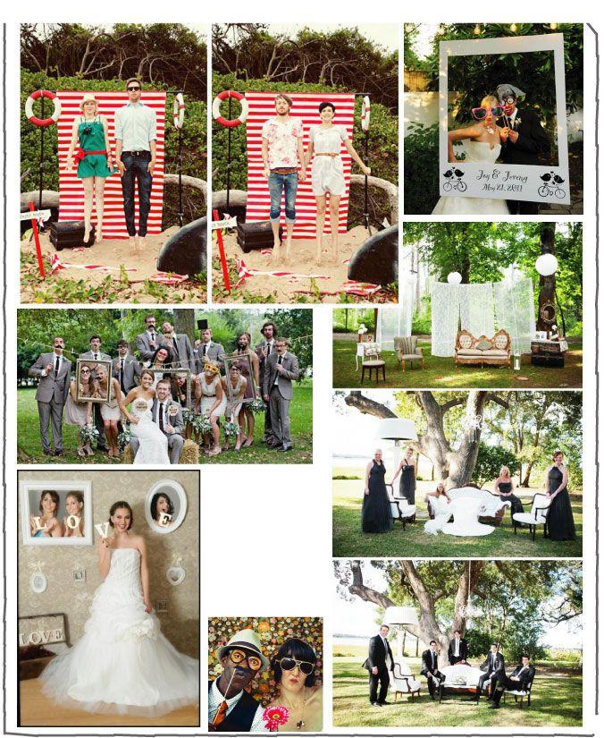 PHOTOBOOTH. Une mosaïque de photos sur le thème photobooth. L'ensemble des invités se prennent au jeu !
