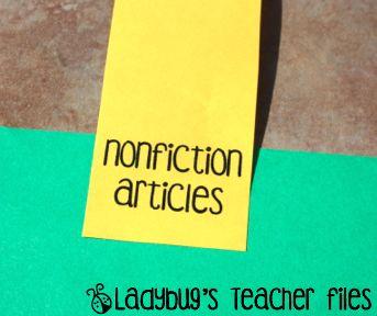Ladybug's Teacher Files: Sticky note binder tabs!