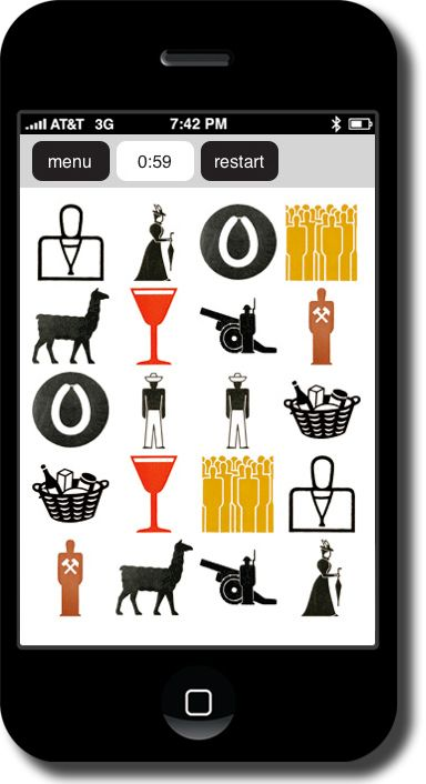 The Gerd Arntz memory app contains a selection of 250 from the more than 4 000 pictograms Gerd Arntz drew between 1928 and 1965.