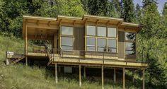 Planul unei cabane mici din lemn, perfecta pentru malul lacului - Sporul Casei