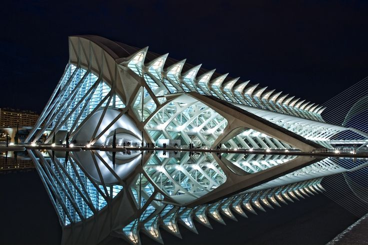Prince Felipe Museum of Science. Valencia, Spain. Designed by: Santiago Calatrava Valls