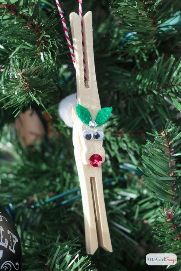 diy reindeer clothespin ornaments kids crafts pinterest christmas christmas ornaments and ornaments