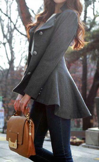 #street #style / asymmetric flare blazer