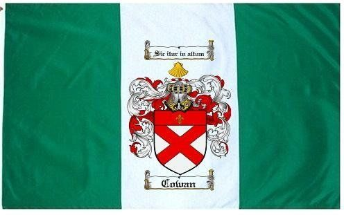 $49.99 Cowan Family Crest / Coat of Arms Flag. Large 3 ft ...