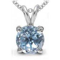 0.65ctw Genuine Blue Topaz 5mm Round & .925 Sterling Silver Pendant With Chain (SJP10036BT), Birthstone Pendants. Buy Now: http://www.sterlingsilverjewelry.tv/genuine-blue-topaz-925-sterling-silver-chain-pendant-sjp10036bt.html #sterlingsilverpendant #silverpendantjewelry #pendantsilver #menpendant