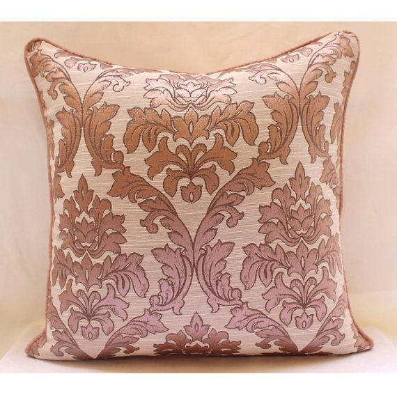 "Damask Pink Pillows Cover, Jacquard Weave 16""X16"" Pillows Cover - Pink Damask"