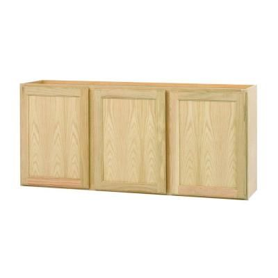 Null 54x24x12 In Wall Cabinet In Unfinished Oak Toys
