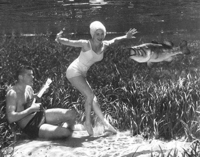 Фантастические ретро-фотографии со дна озера