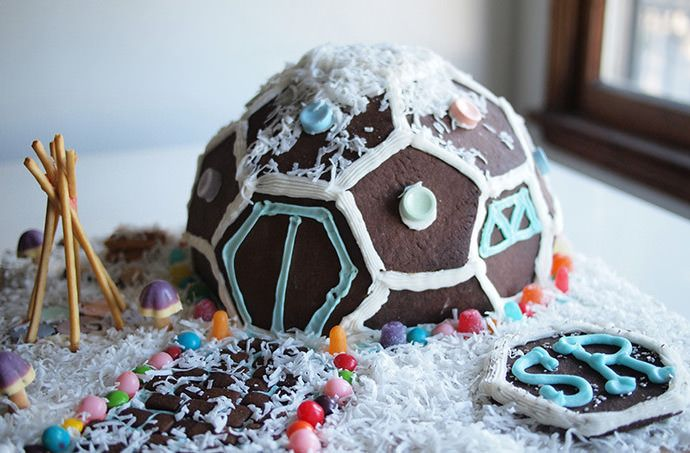 If the traditional gingerbread house doesn't do it for you, give this tasty geodesic dome.house a try.