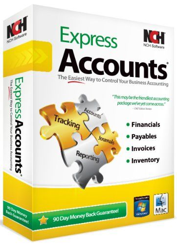 BUY NOW NCH Software Express Accounts Log all business transactions, create invoices, track sales and expenses, manage inventory and more. More Details