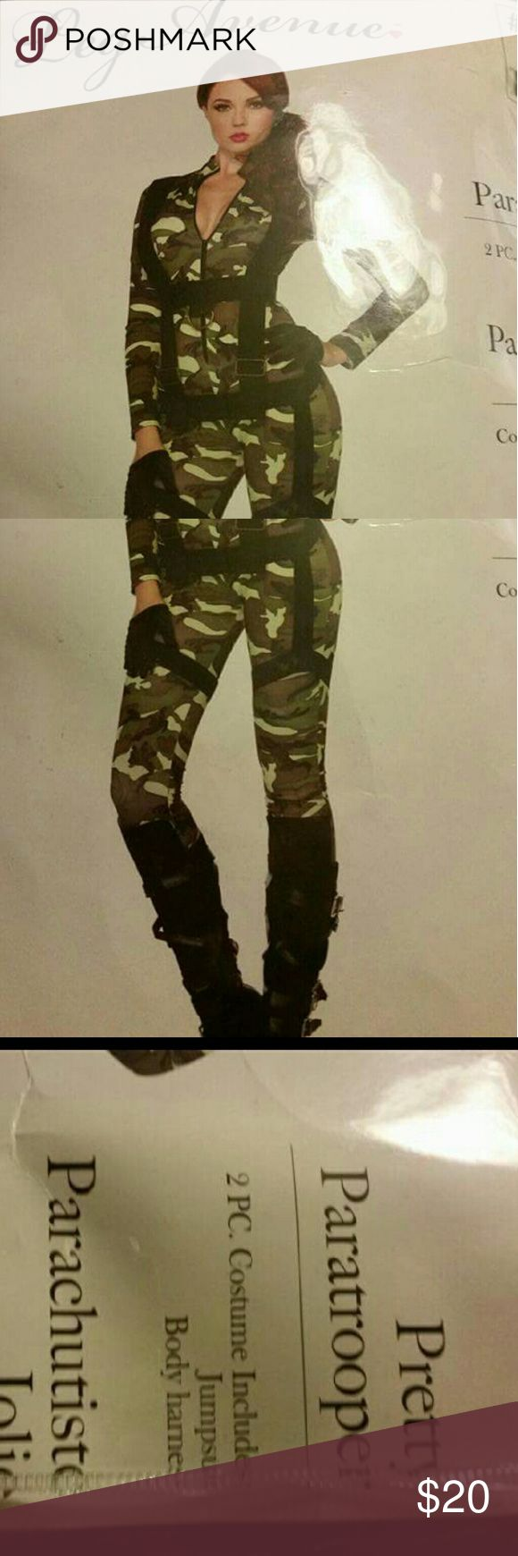 Costume new pretty paratrooper 2 pc camouflage jumpsuit & body harness Pants Jumpsuits & Rompers