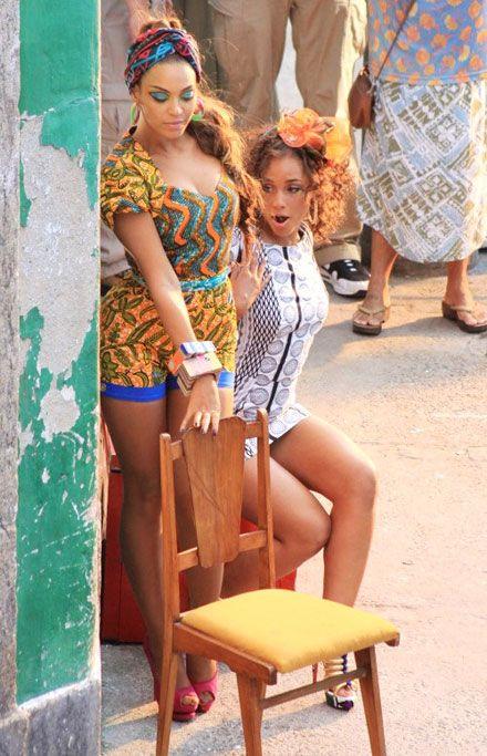 Beyonce & Alicia keys in flamboyant RIO fashion <3