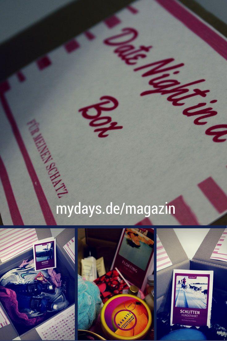 Valentinstag Geschenke Box - Das perfekte Geschenk für den Valentinstag ist nicht einfach zu finden. Und dann muss man sich noch ein romantisches Date überlegen. Mit Date Night in a Box schlägst Du zwei Fliegen mit einer Klappe. Verpacke Deine Valentinstag Unternehmung einfach in einen Karton. Im mydays Magazin erfährst Du wie das geht! VALENTINSTAG | geschenke