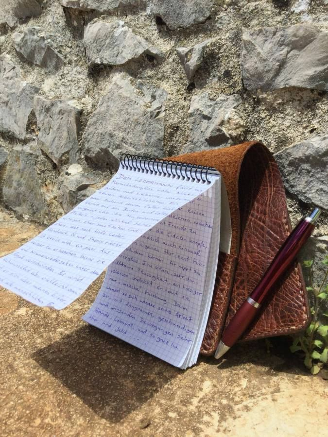 leather notebook cover by fg handmade bags