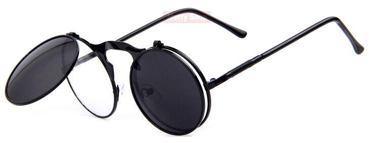 "Unisex ""Flex"" Vintage Steampunk Sunglasses w/ Flip Lens https://www.steampunkartifacts.com/collections/steampunk-glasses https://www.steampunkartifacts.com/collections/steampunk-glasses"