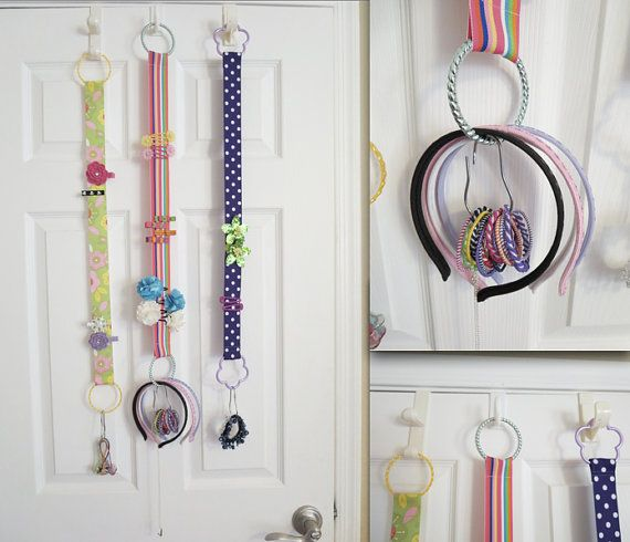 Hair Accessories Holder Organizer - For Headbands, Barrettes, Clips, Hairbands, Hair Ties