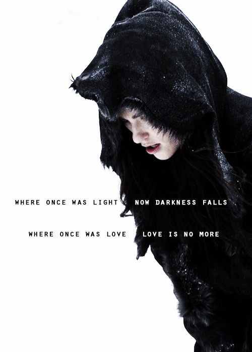 Where once was light, now darkness falls.   Where once was love, love is no more.