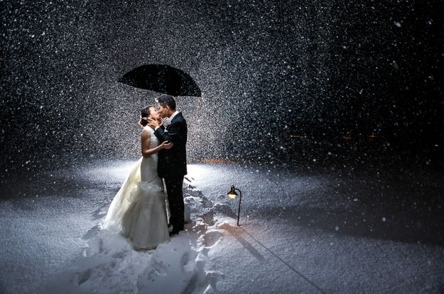 And this one:   38 Couples Who Absolutely Nailed Their Winter Wedding This is why I want a winter wedding.