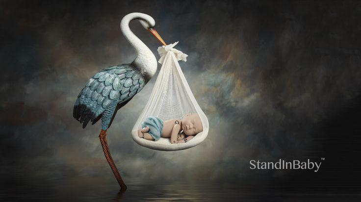 The stork has landed.  StandInBaby in stock now.