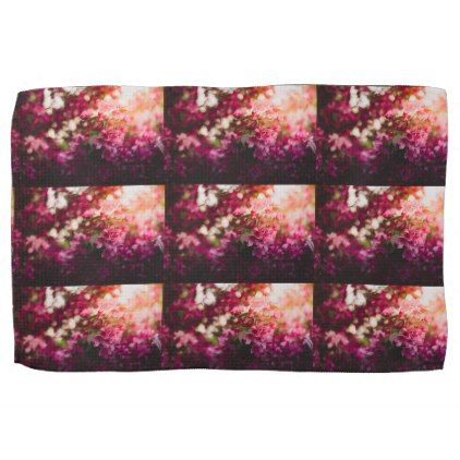 Women's trendy pink and white flower kitchen towel - flowers floral flower design unique style