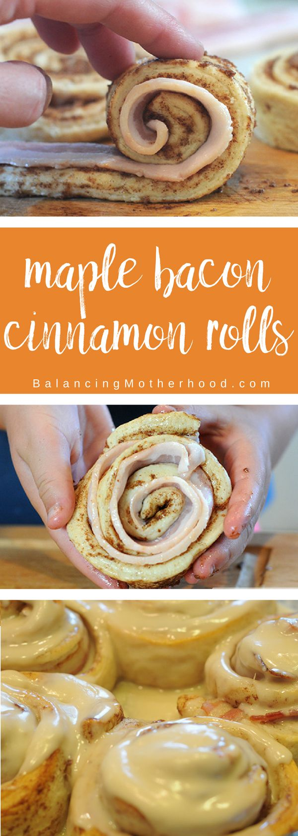 Make maple bacon cinnamon rolls in under 30 minutes! They are delicious with an amazing maple frosting that is super easy to make. These will be gone in minutes so you'd better eat one as soon as they come out of the oven! A great fall treat.