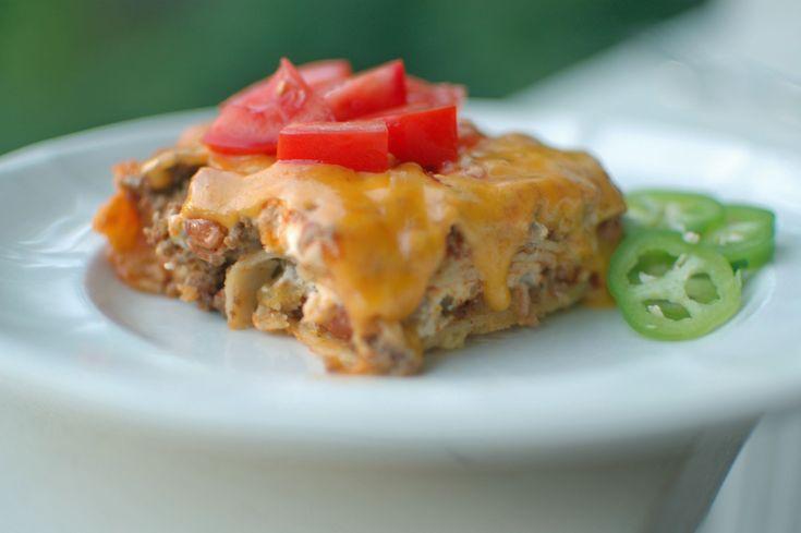 Beef And Bean Enchilada Casserole Recipe — Dishmaps