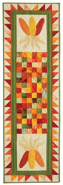 Great autumn table runner that is an easy weekend project.