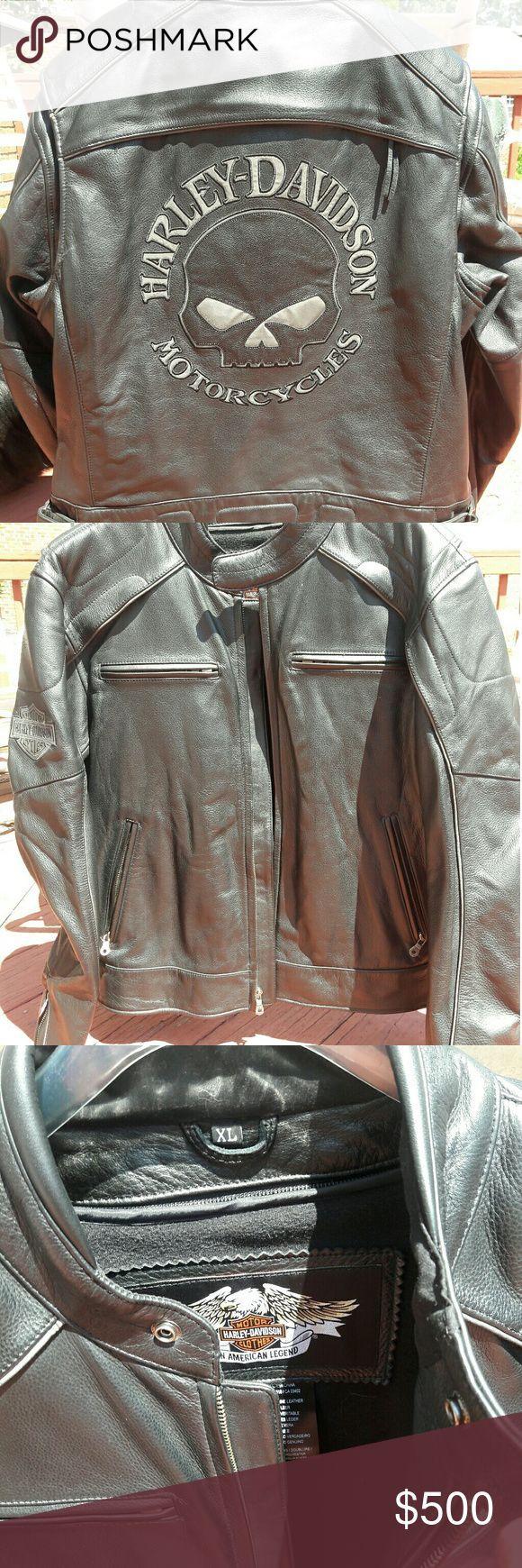 Awesome Harley Davidson Jackets NWOT HD Men's Leather Biker Jacket, XL New, never worn, black, Harley Davids... Check more at http://24shopme.gq/fashion/harley-davidson-jackets-nwot-hd-mens-leather-biker-jacket-xl-new-never-worn-black-harley-davids/