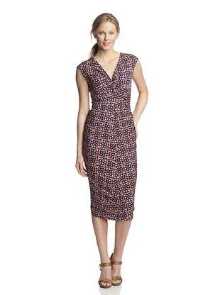 73% OFF Melissa Masse Women's Knot Front Dress (Tangerine Stargate)