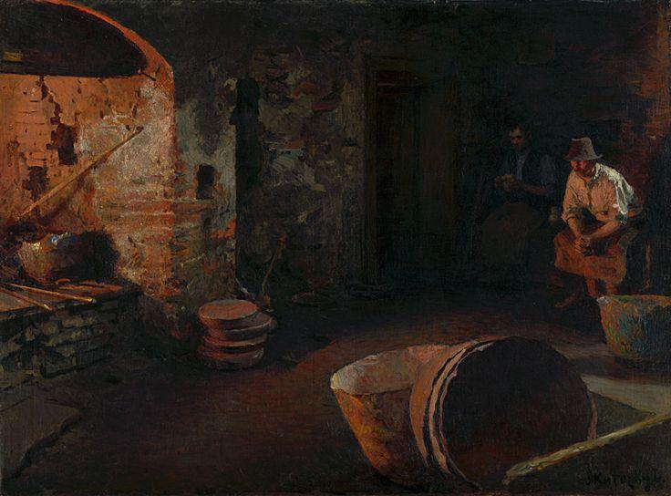 Web umenia | Dominik Skutecký - Odpočívajúci kotliari. Ticho