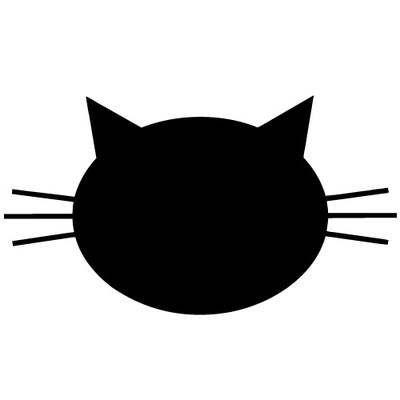 Sticker Ardoise Tete De Chat Tete De Chat Dessin Silhouette Chat Vinyle De Silhouette