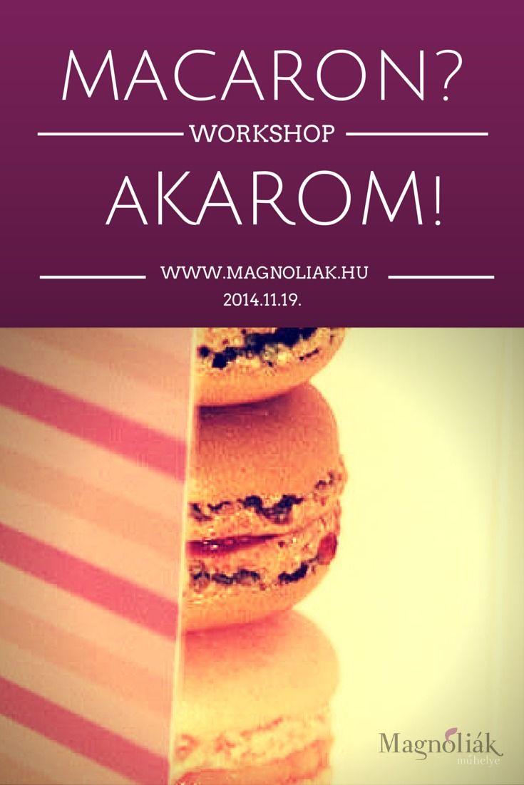 Mire számithatsz?  1., Bemutatkozás MACARON kostolással. A finomságokat Kata/ Juliette Mc Aron biztosítja a csapat számára.  2., Egy kis macaron történelem, receptek ismertetése, sütési fázisok, alapanyagok, beszerzési helyek. 3., Macaron massza készítése. 4., Lemone curde közös elkészítése  5., Macaron töltése  6., Macaron csomagolása, hogy CSODASZÉPEN vidd haza, amit elkészítettél.   http://magnoliak.hu/component/content/article/399.html