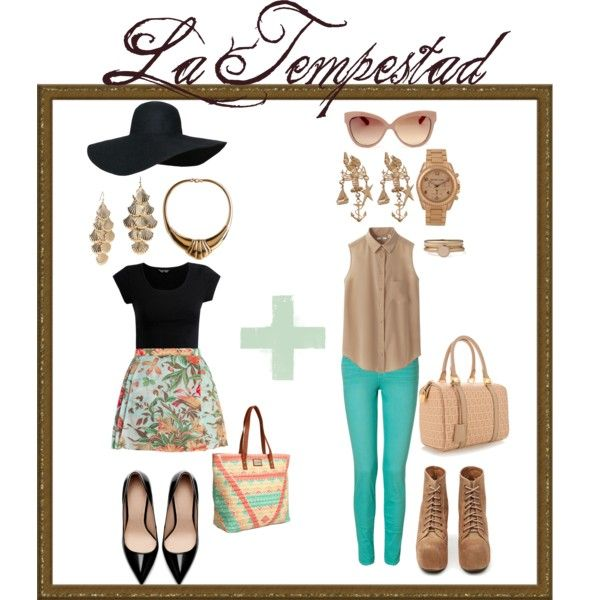 La Tempestad ~ Marina No.2 by selinaigraham on Polyvore featuring moda, Uniqlo, J Brand, Honour, Zara, Jeffrey Campbell, Fendi, O'Neill, Michael Kors and Forever 21