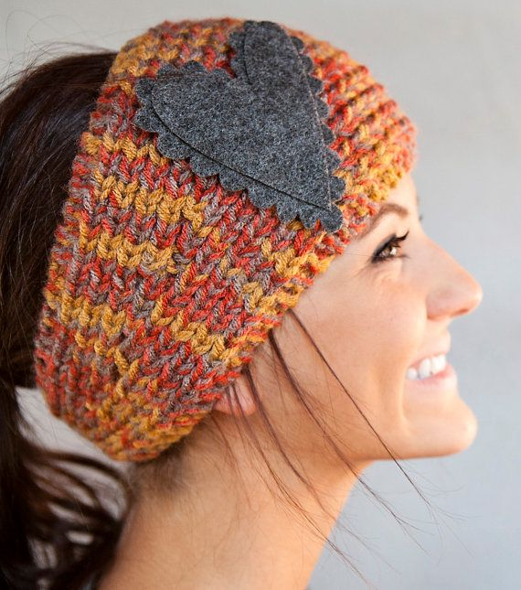 Awesome headbandHead Bands, Felt Hearts, Head Wraps, Primitives Decor, Ears Warmers, Ear Warmers, Knits Headbands, Knit Headband, Crochet Headbands
