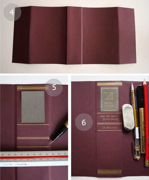 Paper Book Cover Template : Best images about book making covers and pages on