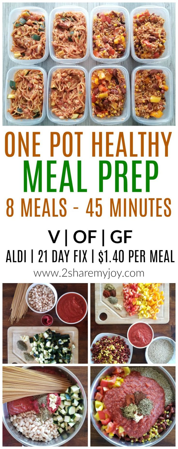 Vegan Meal Prep (on a budget): 8 Meals under 45 Minutes for the week. If you are on a weight loss journey, bodybuilding or simply want to eat healthy, these healthy whole food plant based one pot meals make delicious easy and cheap dinner meals. Use this high protein plant based meal prep to save time and money on groceries. This is also simple enough for beginners and make freezer friendly lunches. Aldi and 21 day fix friendly! #mealprep #vegan #plantbaseddiet #onabudget