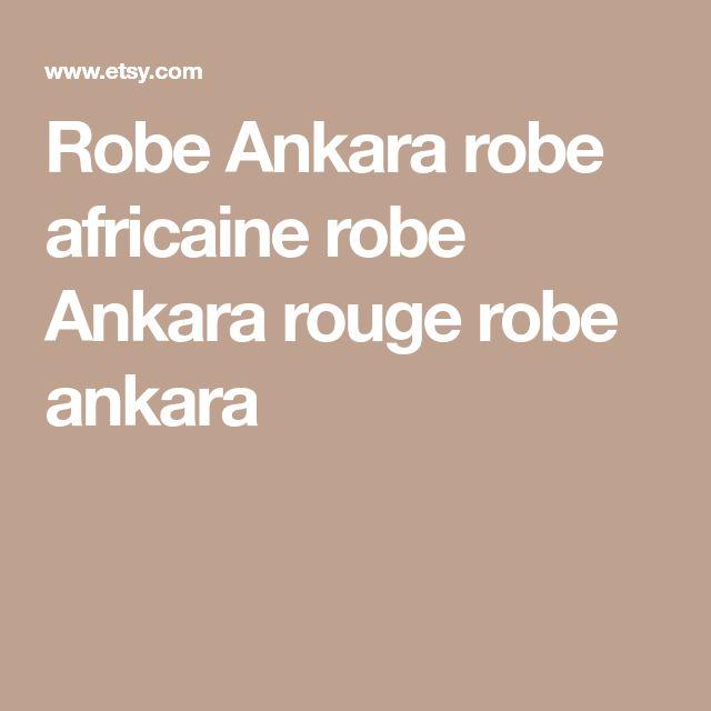 Robe Ankara robe africaine robe Ankara rouge robe ankara
