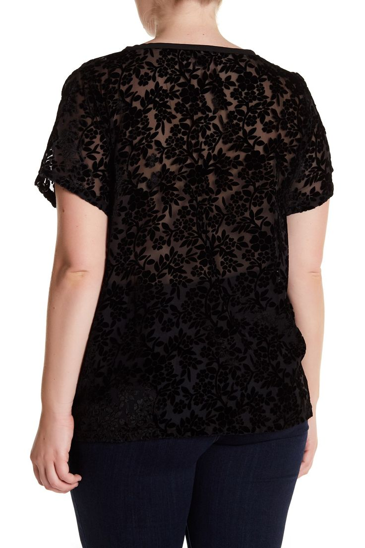 Lucky Brand - Floral Burnout Tee (Plus Size) is now 55% off. Free Shipping on orders over $100.