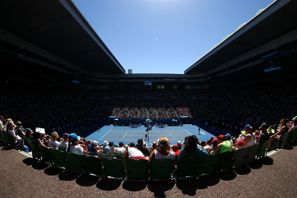 A general view of Rod Laver Arena during day two of the 2013 Australian Open at Melbourne Park on January 15, 2013 in Melbourne, Australia.