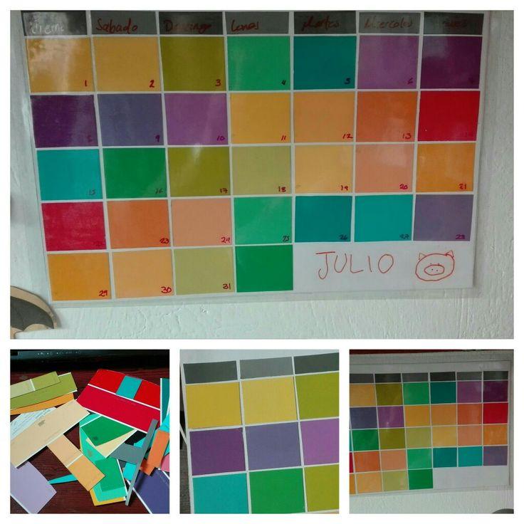 Calendario con #muestras de #pintura  #BEHR #Colorsmart
