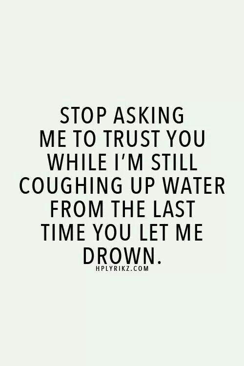 Last time you let me drown...