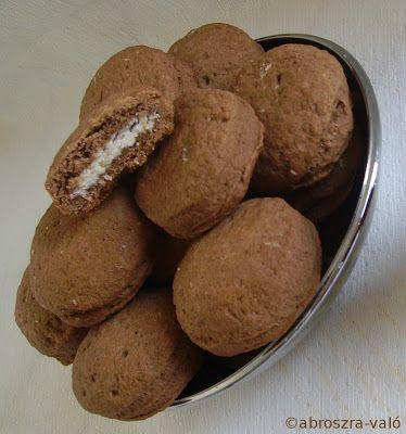 Kipróbált és bevált receptek ...: Kókusszal töltött kakaós keksz