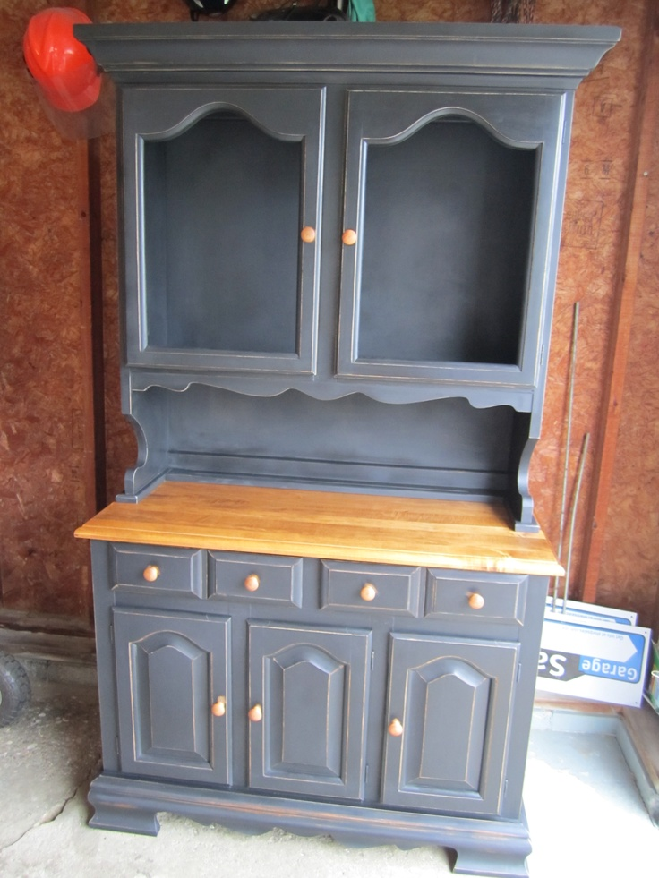 Refinished Hutch Customer Had The Glass For Doors If It Were Mine I