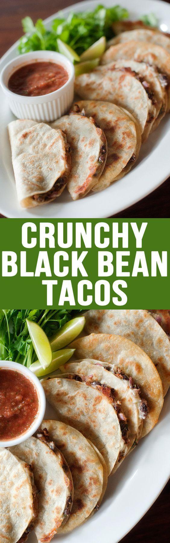 Crunchy Black Bean Tacos